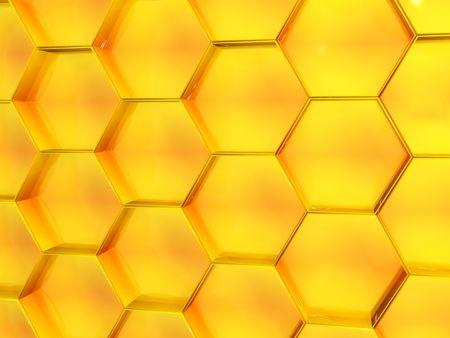 abejas panal: Fondo - panal de color amarillo
