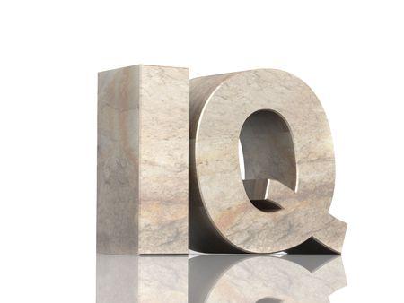 prodigy: Lettere 3d di pietra d. oggetto e mi over white