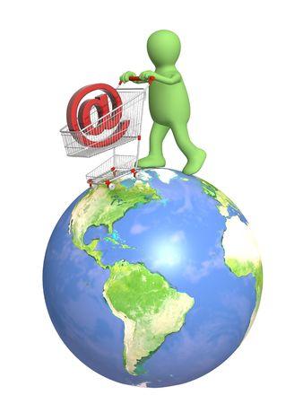 Conceptual image - virtual shopping Stock Photo - 6071325