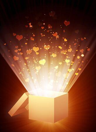Decorative collage - vertical valentine background photo