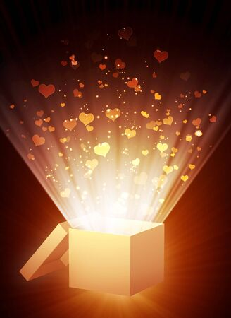 Decorative collage - vertical valentine background