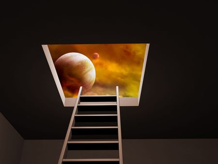 Conceptual image - way to imagination Stock Photo - 6237674