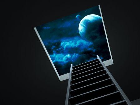 Conceptual image - way to imagination Stock Photo - 6237666