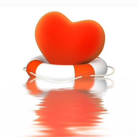Conceptual image - help to heart Stock Photo - 6281679