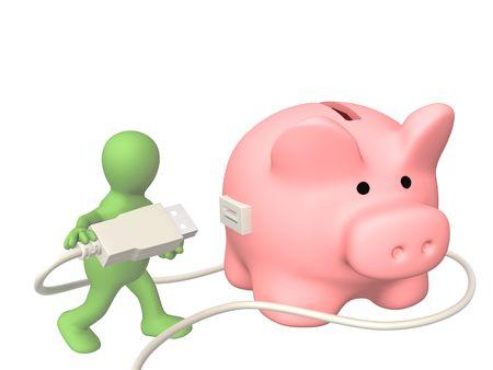 Conceptual image - electronic bank account Stock Photo - 6281628