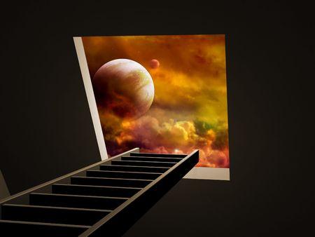 Conceptual image - way to imagination Stock Photo - 6281680
