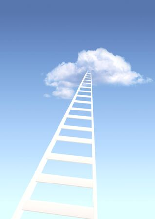 Conceptual image - ladder to paradise photo