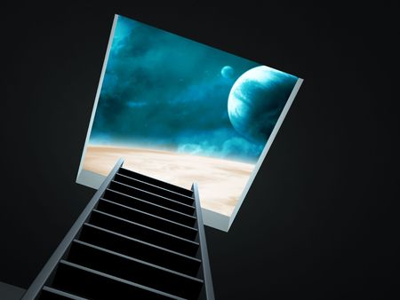 Conceptual image - way to imagination Stock Photo - 6288588