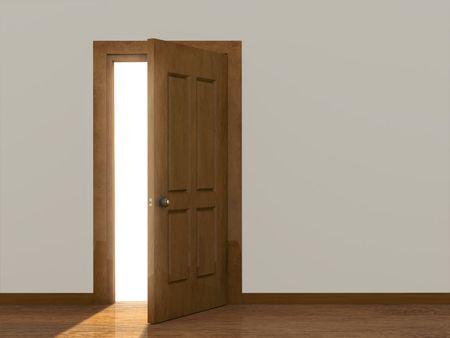 salir puerta: Imagen conceptual - un camino al �xito Foto de archivo