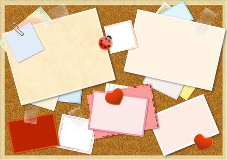 Decorative collage - bright valentine background photo
