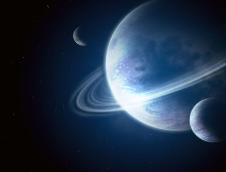 Illustration - a fantastic beautiful galaxy Stock Illustration - 6335746