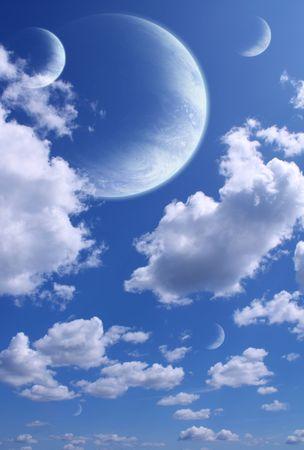 Illustration - a fantastic beautiful sky Stock Illustration - 6335752