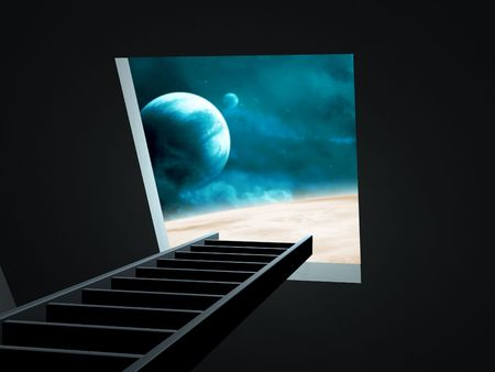 Conceptual image - way to imagination Stock Photo - 6383820