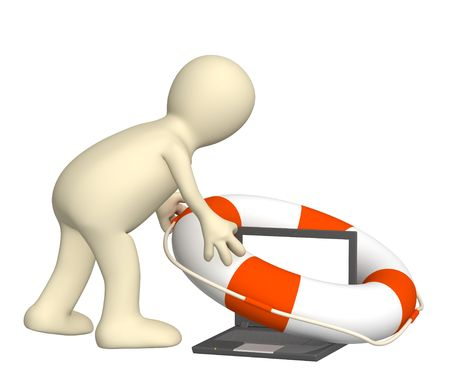 Internet concept - help in the virtual world photo