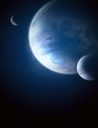 interplanetary: Illustration - a fantastic beautiful galaxy