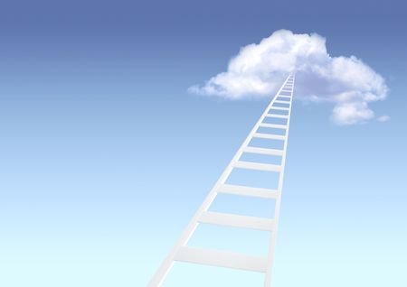 Conceptual image - ladder to paradise Stock Photo - 6416590