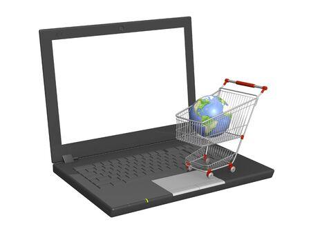 Conceptual image - global virtual shopping Stock Photo - 6416629