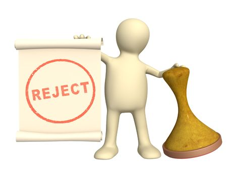 reject: Reject - 3d puppet with an seal