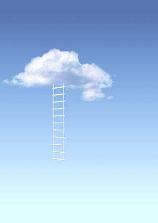 Conceptual image - ladder to paradise Stock Photo - 6564954