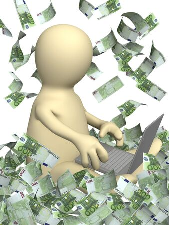 Conceptual image - earnings in the Internet photo