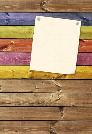 Grunge background with paper sheet  photo