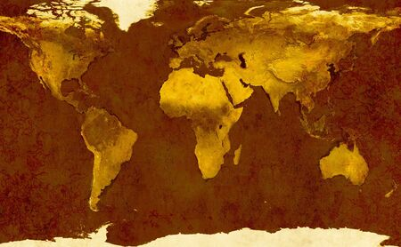 Grunge background - ancient map of the world photo