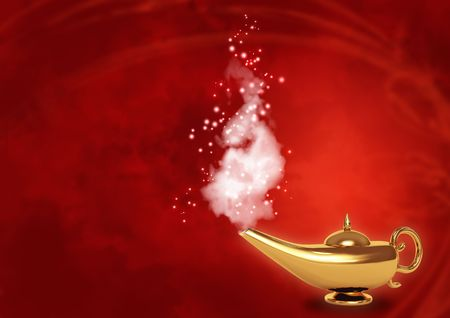 genie lamp: Symbol performance of desires - magic lamp