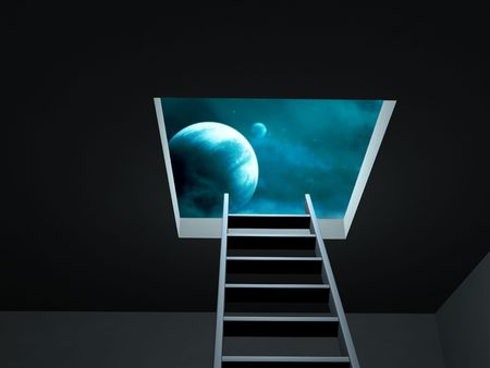 Conceptual image - way to imagination Stock Photo - 6597831