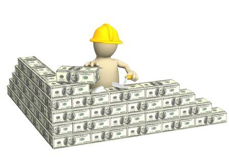 economic interest: Conceptual image - building business. 3d Stock Photo