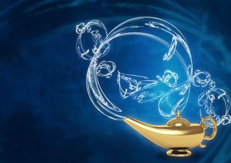 lampara magica: Rendimiento de s�mbolo de los deseos - l�mpara m�gica