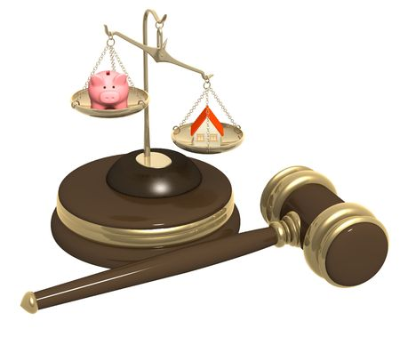 Conceptual image - division of property at divorce photo