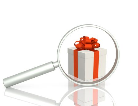 Conceptual image - search of gift photo