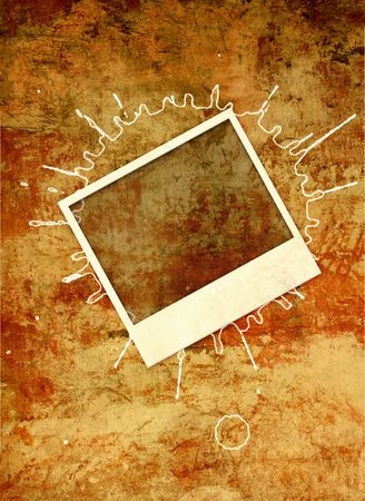 Grunge background with photoframe photo