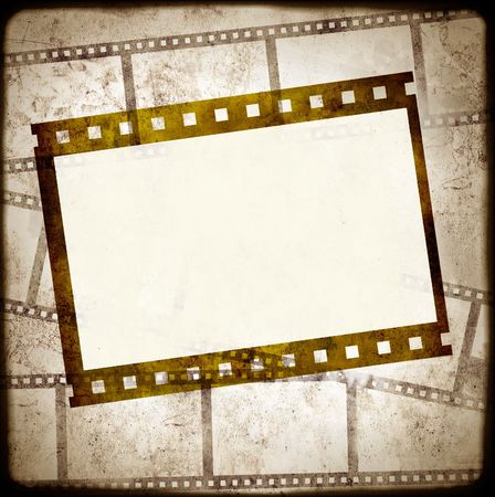 instant camera: Grunge background - symbolical the image of a film Stock Photo