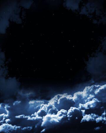 Night fairy tale - bright stars in the night sky