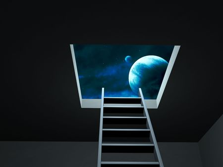 Conceptual image - way to imagination Stock Photo - 6684949