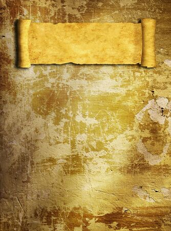 Grunge background with old scroll photo