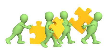 perplexing: Conceptual image - success of teamwork