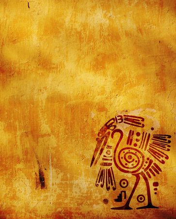 Vertical background with American Indian national patterns photo