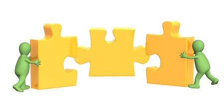 puzzling: Conceptual image - success of teamwork