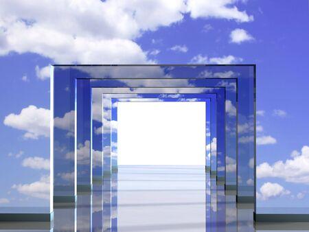 3d mode: Road illusion - 3d render illustration Stock Photo