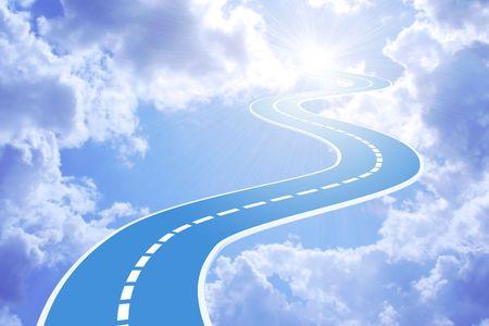 pfad: Konzeptionelle Bild - Weg zum Himmel
