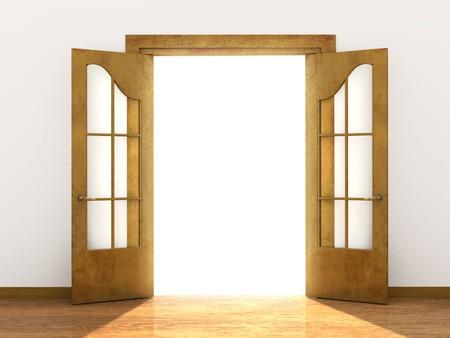 puertas abiertas: Imagen conceptual - un camino al �xito Foto de archivo