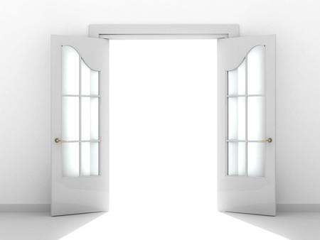 puerta abierta: Imagen conceptual - un camino al �xito