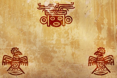 Horizontal background with American Indian national patterns photo