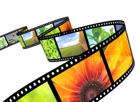 nature photography: Background - 3d abstract photographic film Stock Photo
