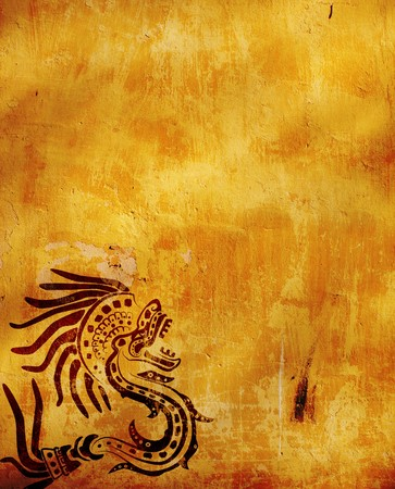 latin american ethnicity: Horizontal background with American Indian national patterns Stock Photo