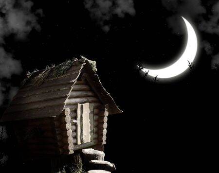 Dark series - witches hut and moon
