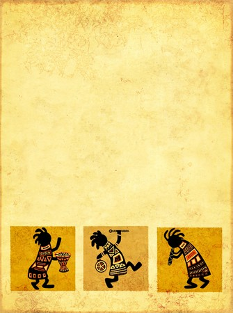 native african ethnicity: Dancing musicians. African national patterns