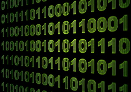 Internet concept - screen with binary code Stock Photo - 7160218